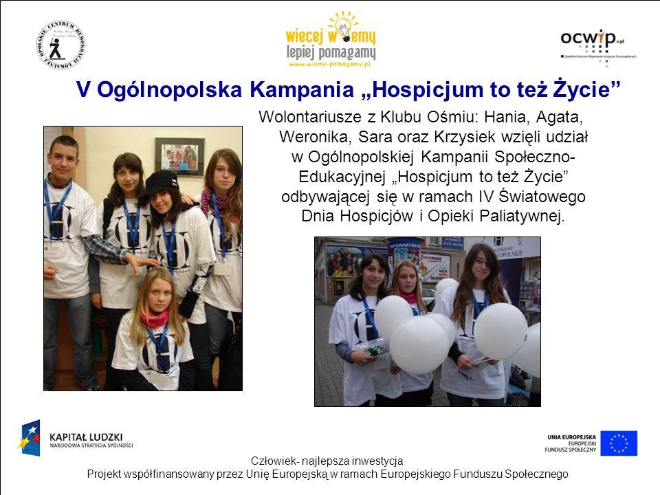 """V Ogólnopolska Kampania """"Hospicjum to też Życie"""
