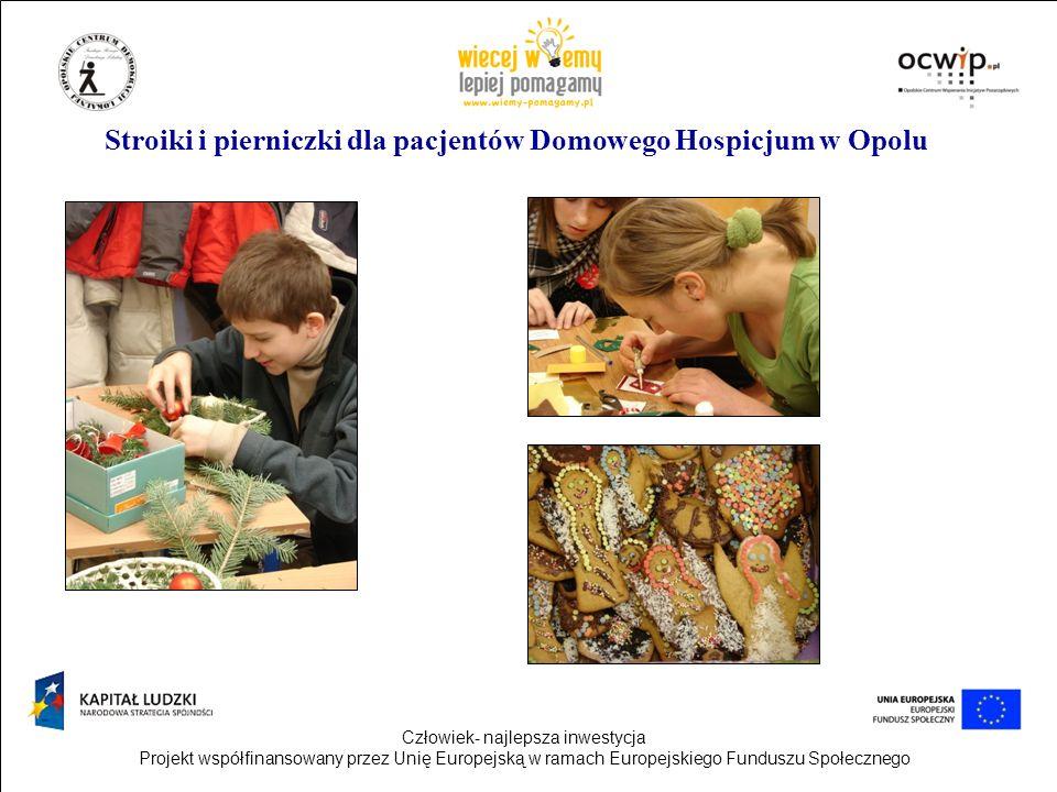 Stroiki i pierniczki dla pacjentów Domowego Hospicjum w Opolu
