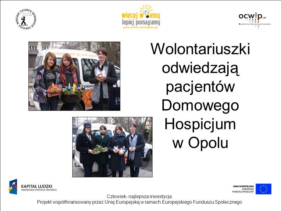 Wolontariuszki odwiedzają pacjentów Domowego Hospicjum w Opolu