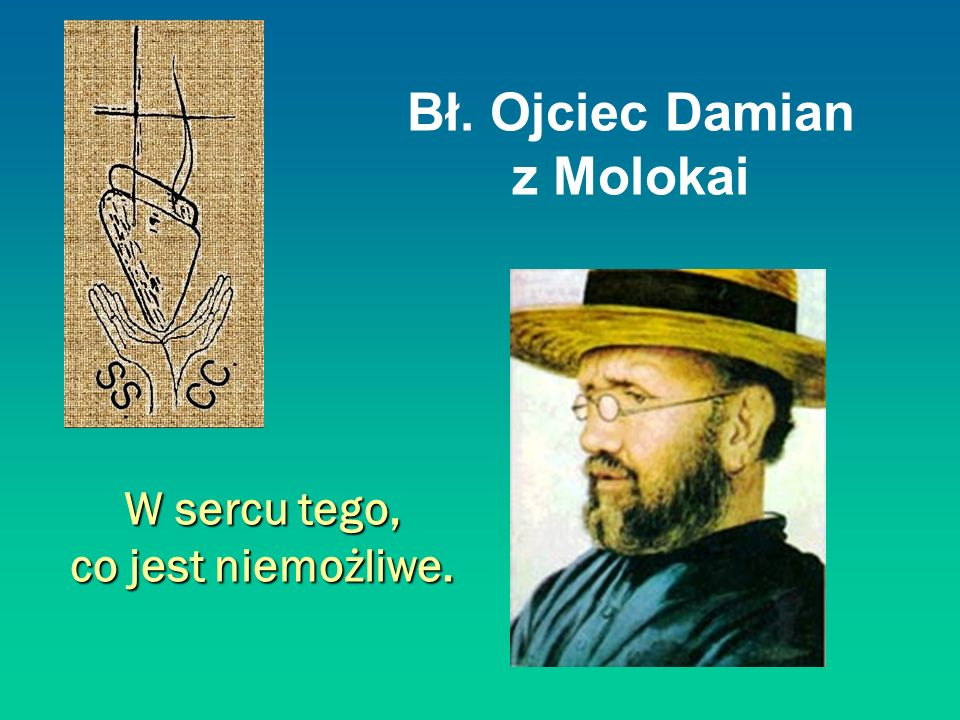 Bł. Ojciec Damian z Molokai