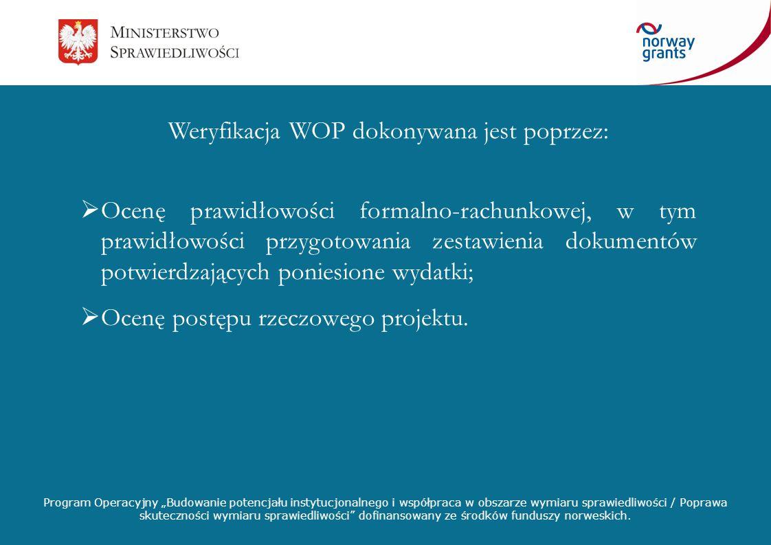 Weryfikacja WOP dokonywana jest poprzez:
