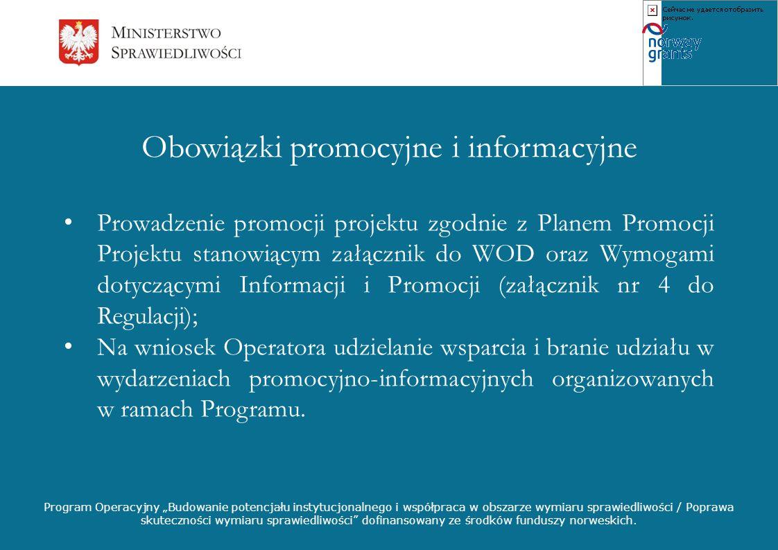 Obowiązki promocyjne i informacyjne