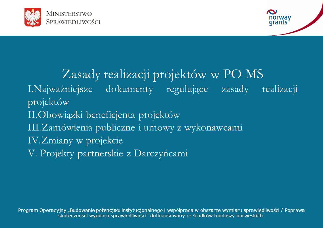 Zasady realizacji projektów w PO MS