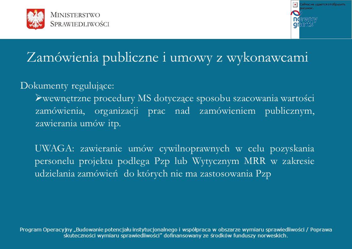 Zamówienia publiczne i umowy z wykonawcami