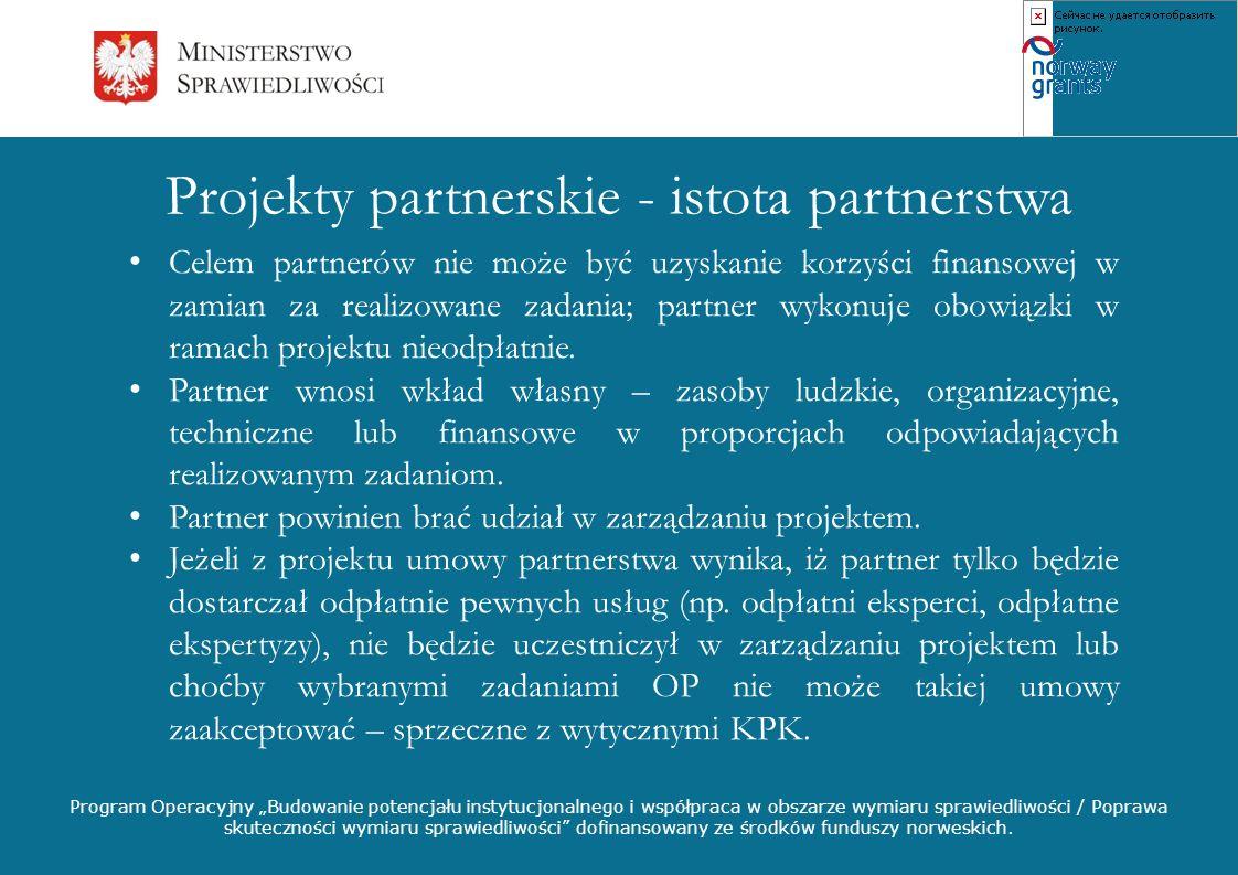 Projekty partnerskie - istota partnerstwa