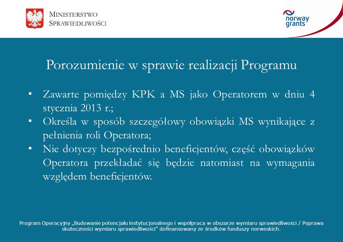 Porozumienie w sprawie realizacji Programu
