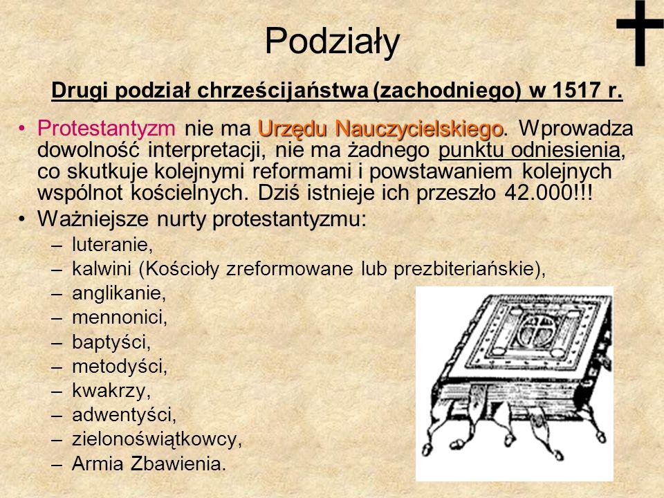 Podziały Drugi podział chrześcijaństwa (zachodniego) w 1517 r.
