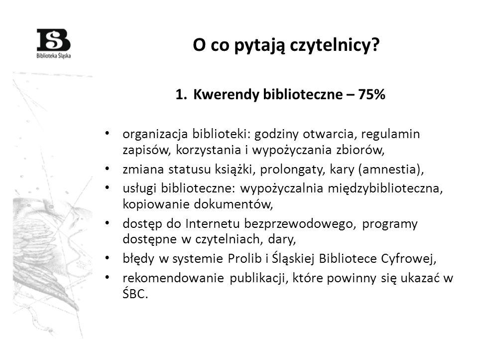 Kwerendy biblioteczne – 75%
