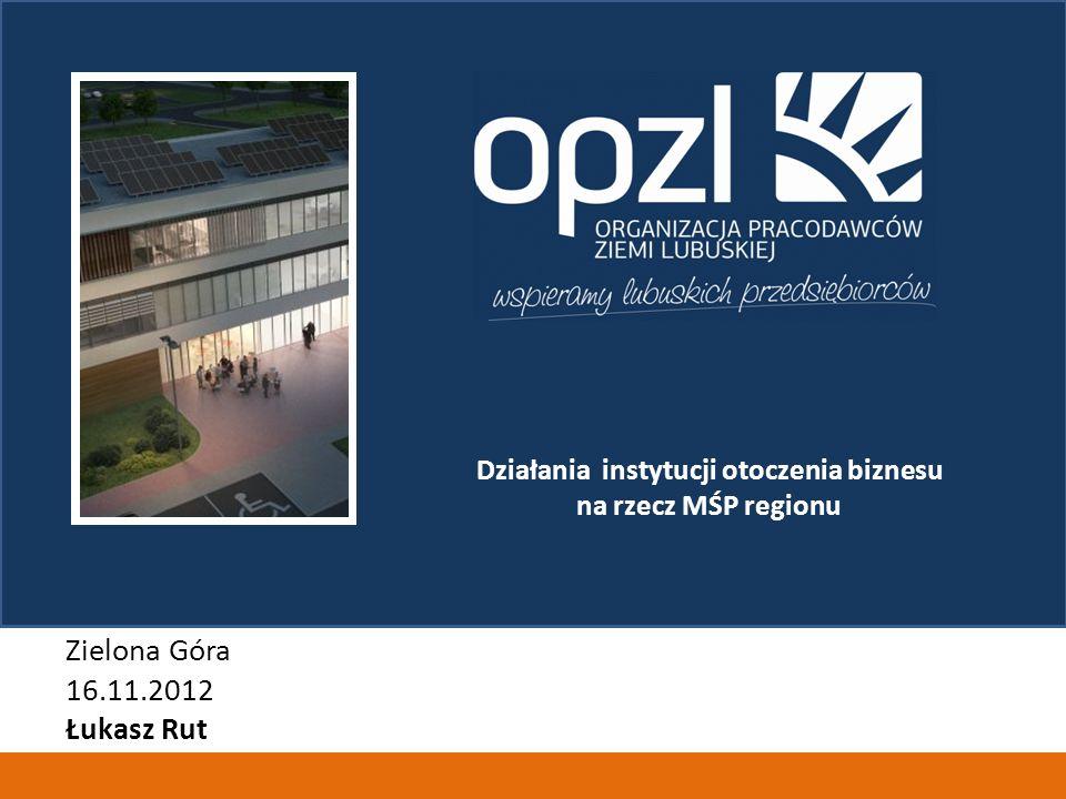 Działania instytucji otoczenia biznesu na rzecz MŚP regionu