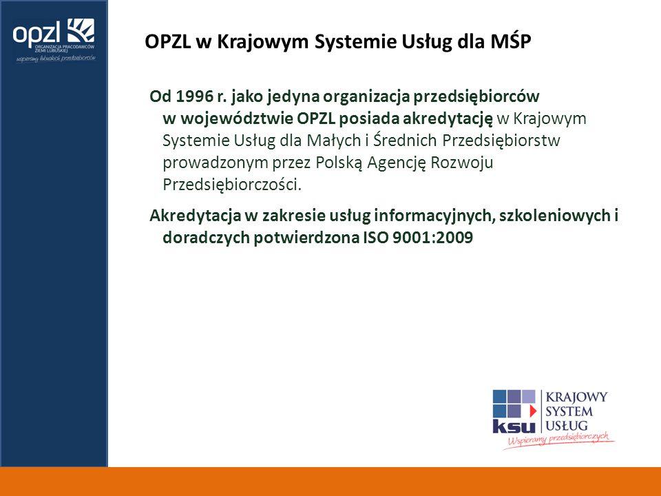 OPZL w Krajowym Systemie Usług dla MŚP