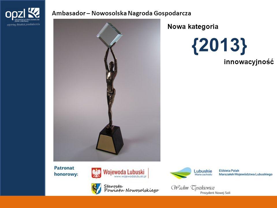 {2013} Ambasador – Nowosolska Nagroda Gospodarcza Nowa kategoria