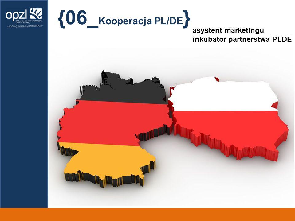 {06_Kooperacja PL/DE} asystent marketingu inkubator partnerstwa PLDE