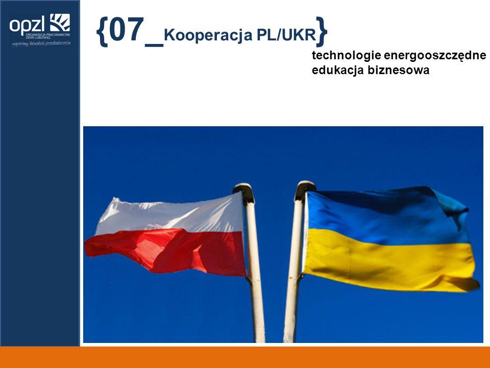 {07_Kooperacja PL/UKR} technologie energooszczędne edukacja biznesowa