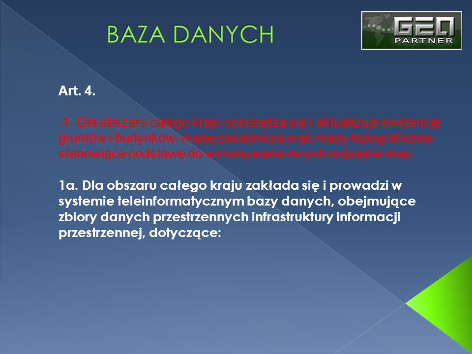 BAZA DANYCHArt. 4.