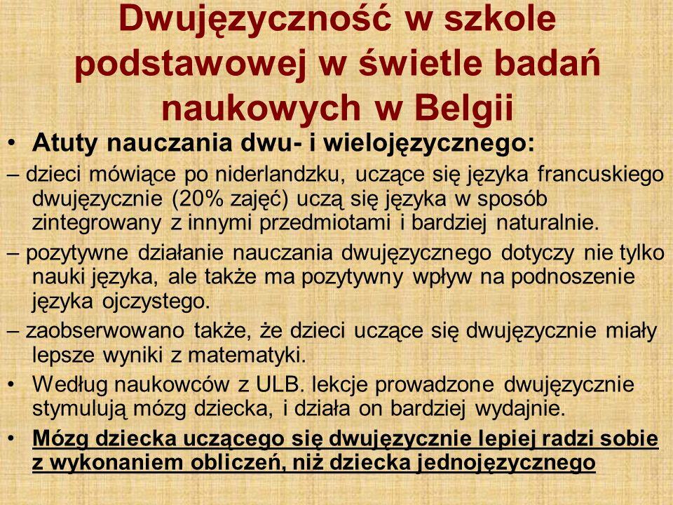 Dwujęzyczność w szkole podstawowej w świetle badań naukowych w Belgii