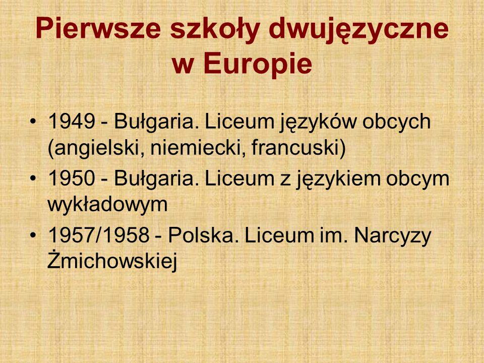 Pierwsze szkoły dwujęzyczne w Europie