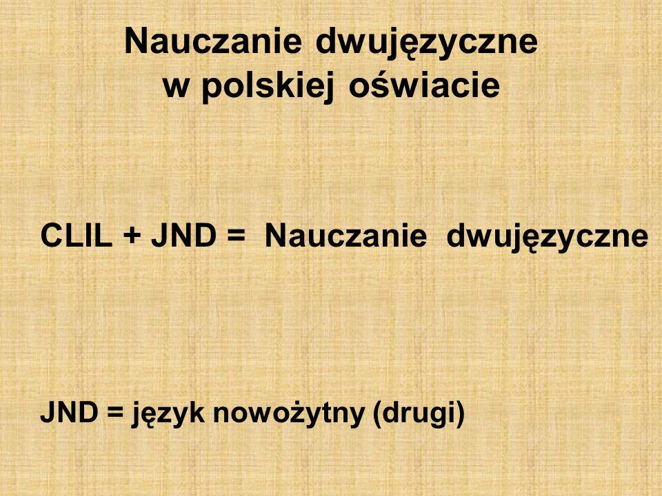 Nauczanie dwujęzyczne w polskiej oświacie