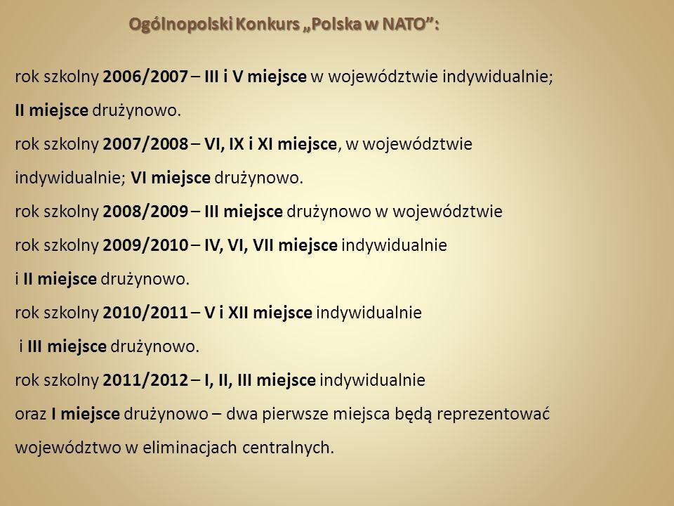 "Ogólnopolski Konkurs ""Polska w NATO :"