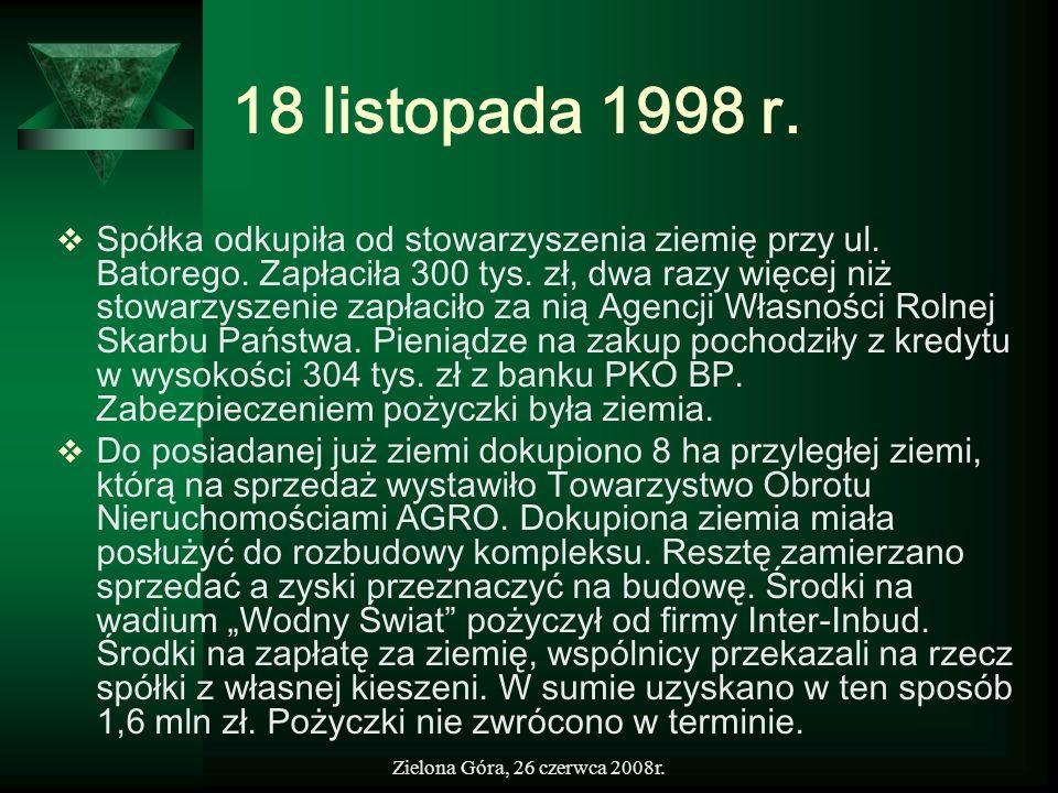 18 listopada 1998 r.