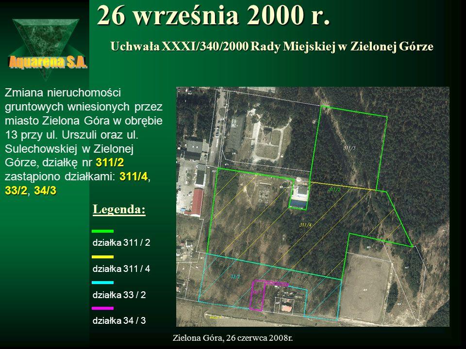 Uchwała XXXI/340/2000 Rady Miejskiej w Zielonej Górze
