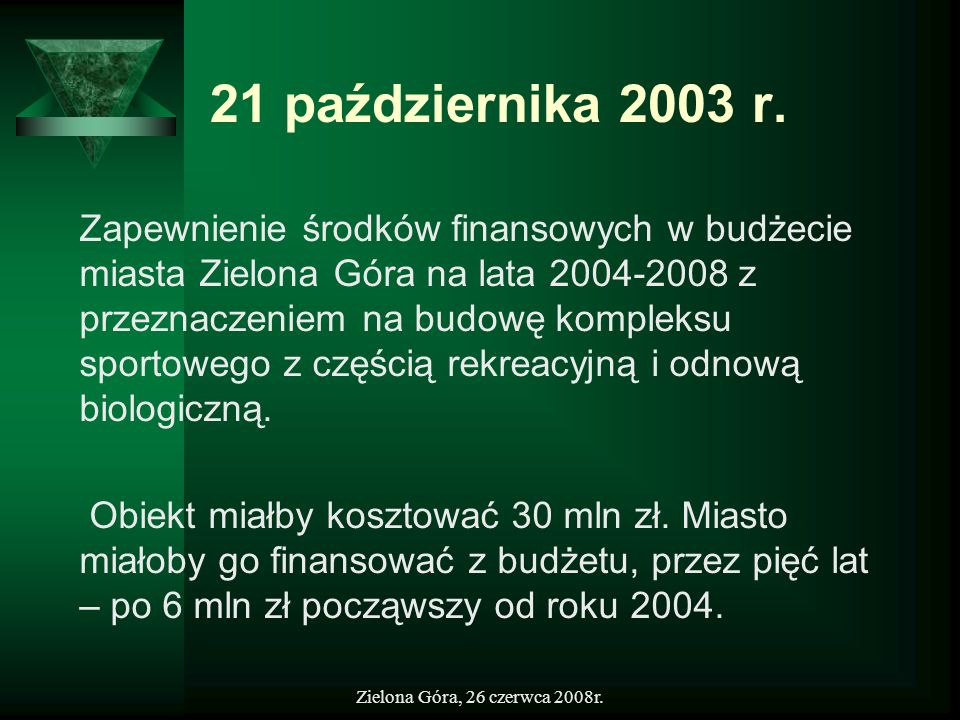 21 października 2003 r.