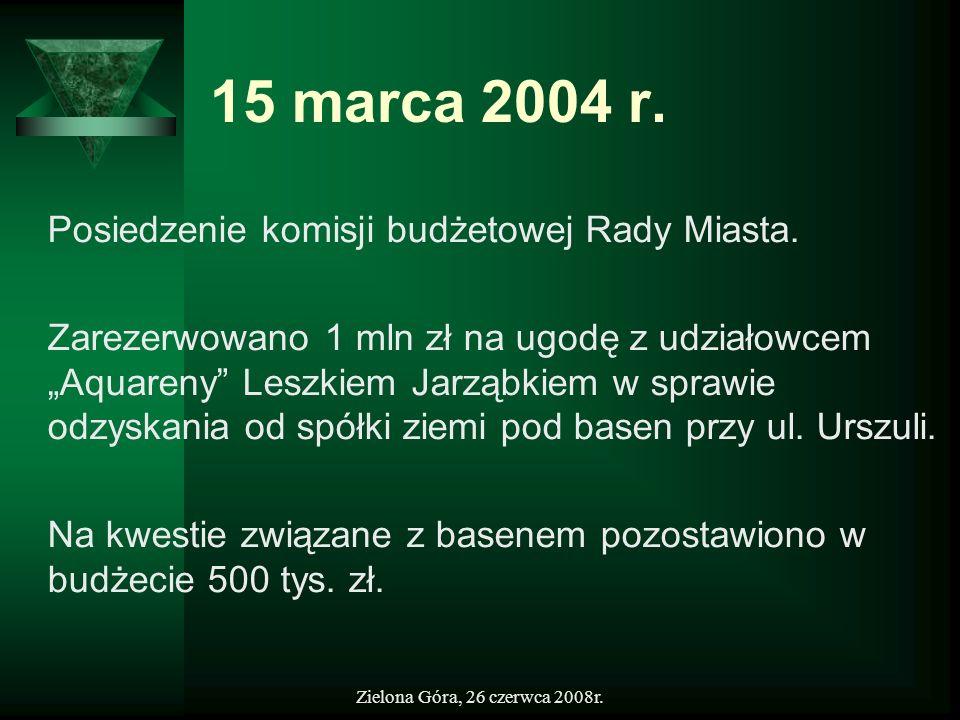 15 marca 2004 r. Posiedzenie komisji budżetowej Rady Miasta.