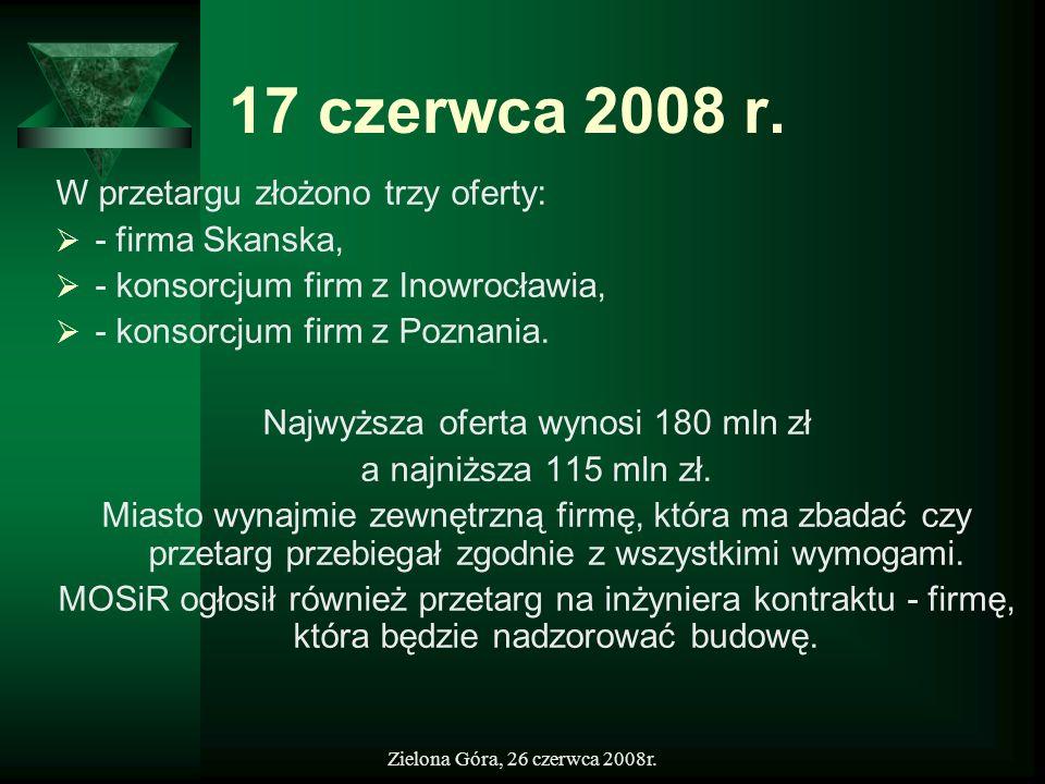 Najwyższa oferta wynosi 180 mln zł