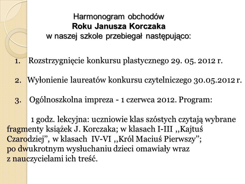 Harmonogram obchodów Roku Janusza Korczaka w naszej szkole przebiegał następująco: