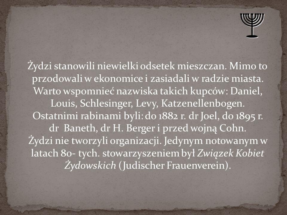 Żydzi stanowili niewielki odsetek mieszczan
