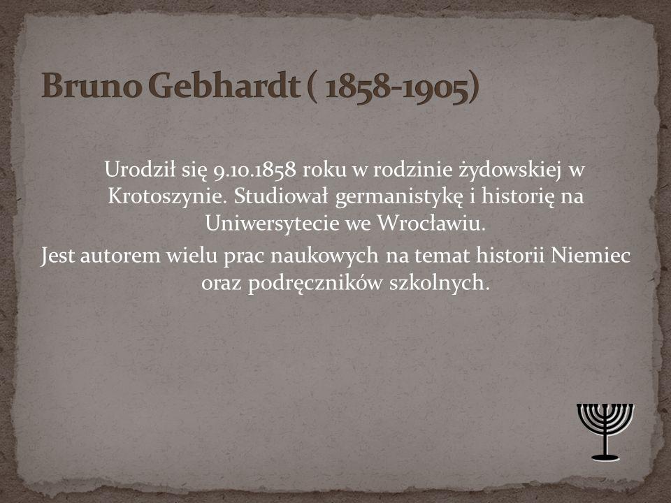 Bruno Gebhardt ( 1858-1905)