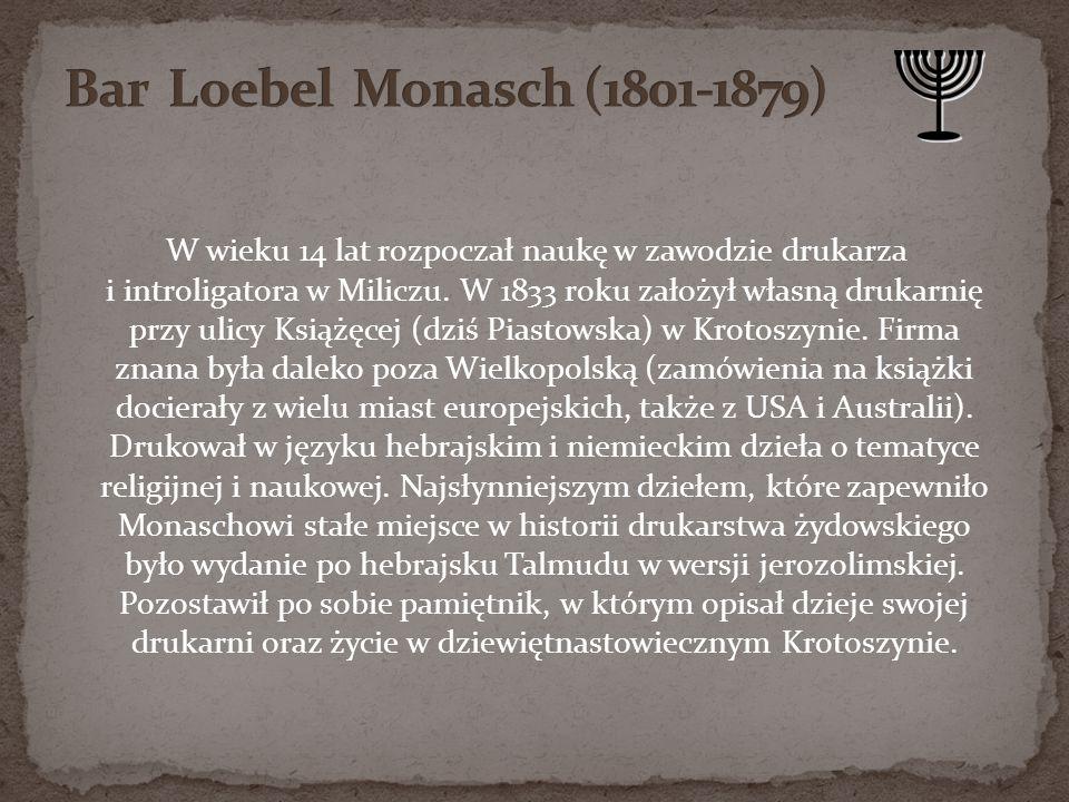 Bar Loebel Monasch (1801-1879)
