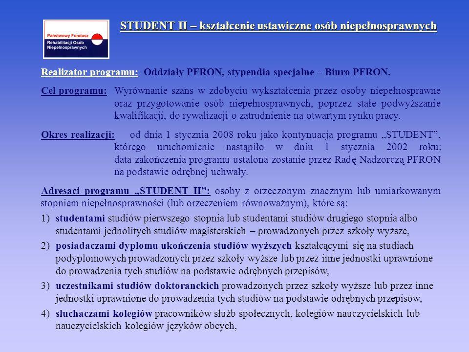 STUDENT II – kształcenie ustawiczne osób niepełnosprawnych