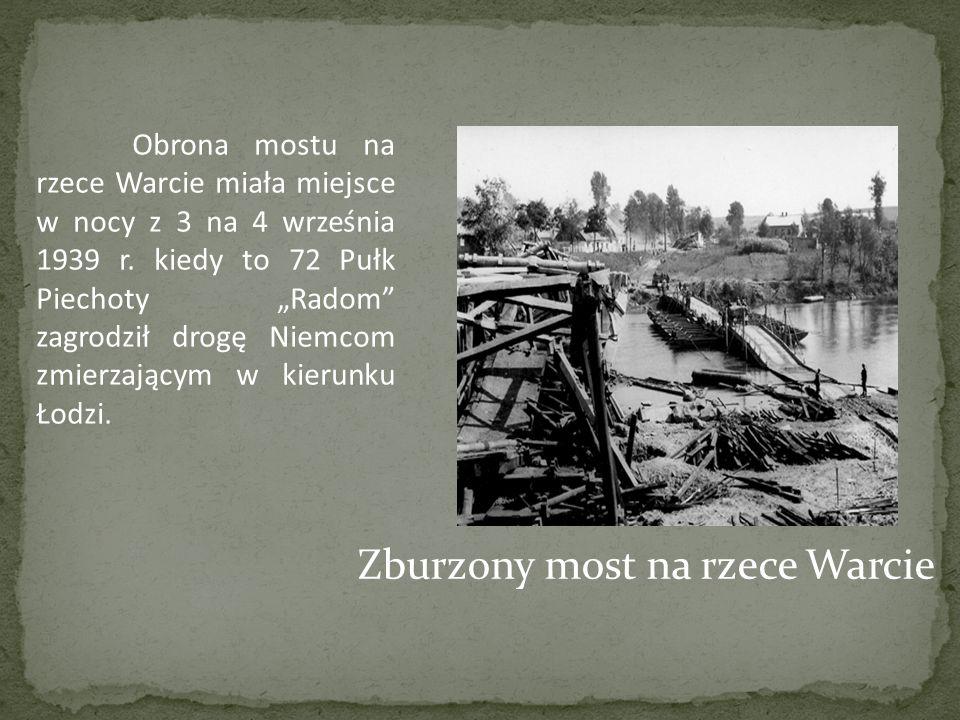Zburzony most na rzece Warcie