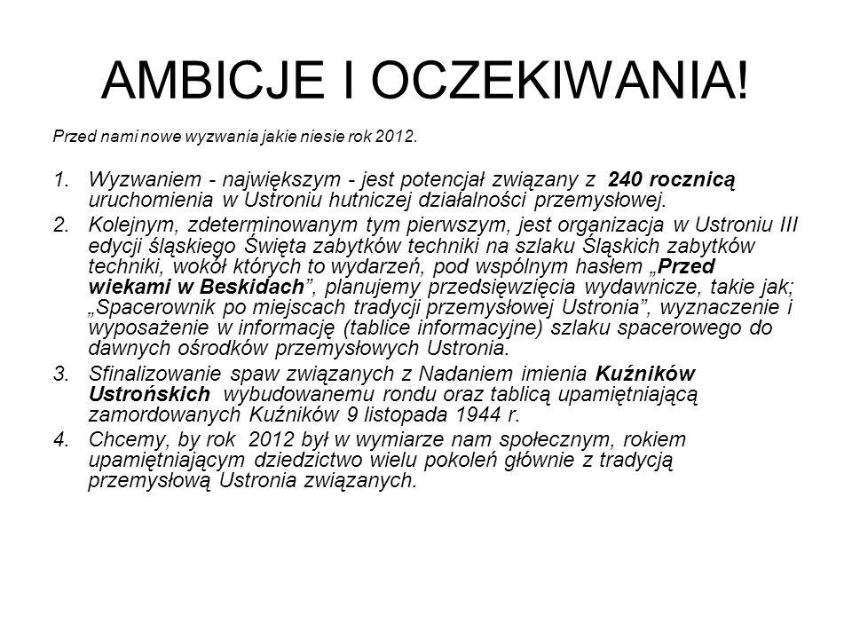 AMBICJE I OCZEKIWANIA! Przed nami nowe wyzwania jakie niesie rok 2012.