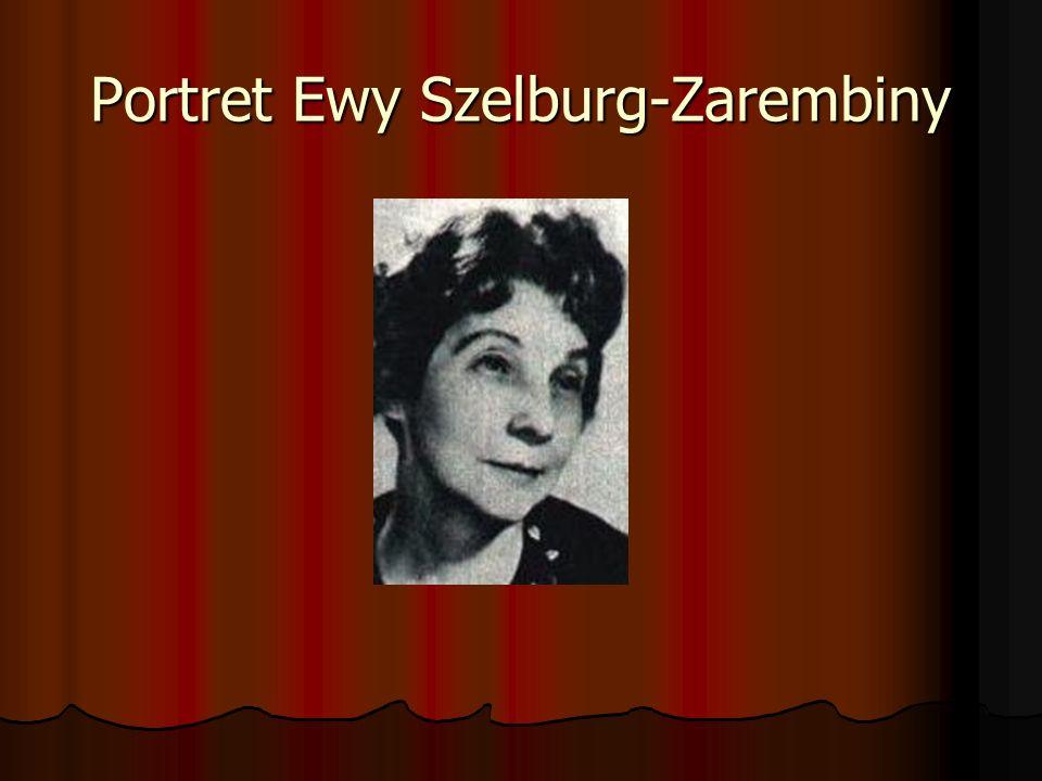 Portret Ewy Szelburg-Zarembiny
