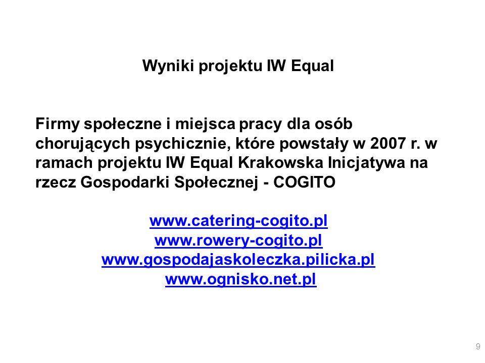 Wyniki projektu IW Equal