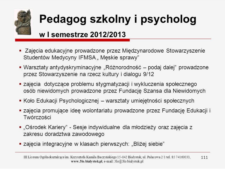 Pedagog szkolny i psycholog