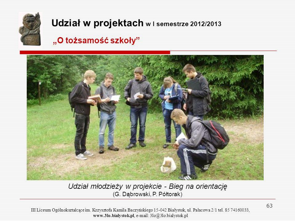 Udział w projektach w I semestrze 2012/2013