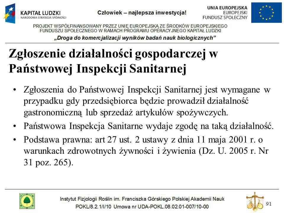 Zgłoszenie działalności gospodarczej w Państwowej Inspekcji Sanitarnej