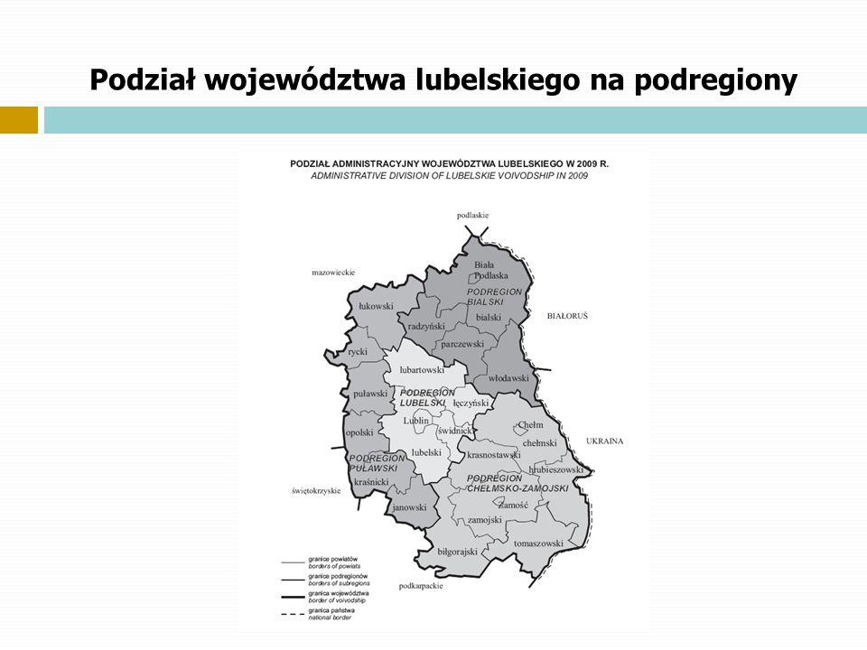 Podział województwa lubelskiego na podregiony