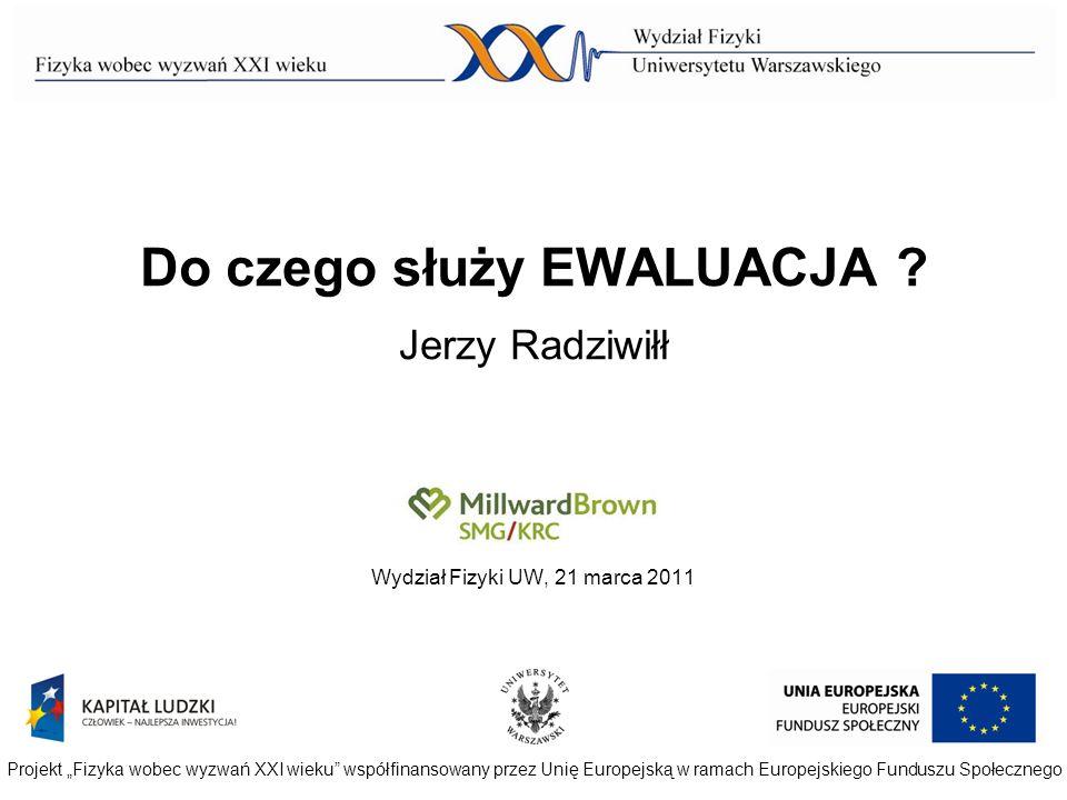 Do czego służy EWALUACJA Jerzy Radziwiłł