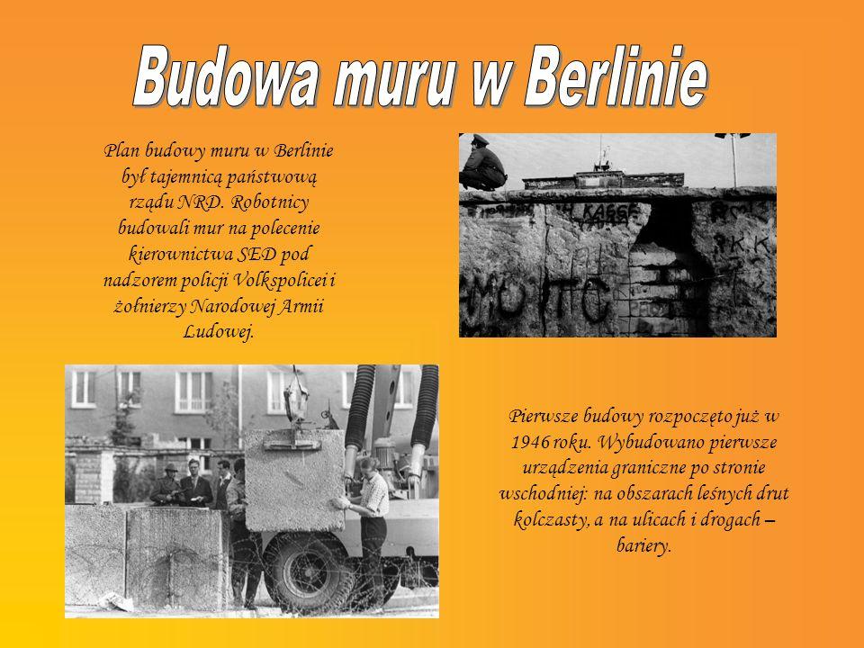 Budowa muru w Berlinie