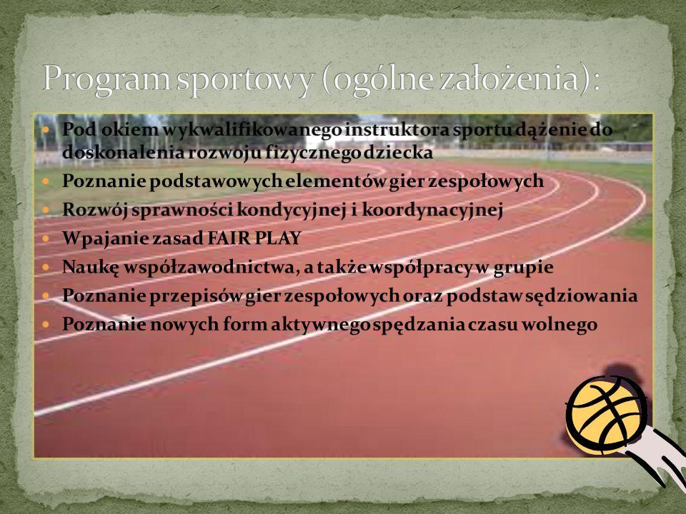 Program sportowy (ogólne założenia):
