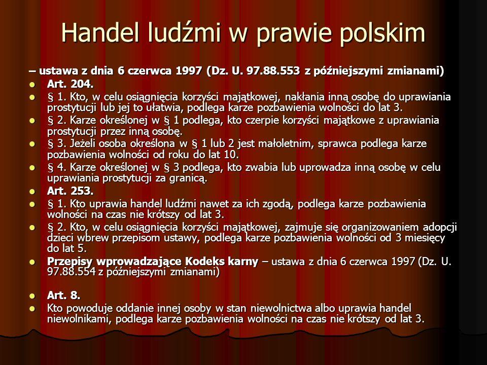 Handel ludźmi w prawie polskim