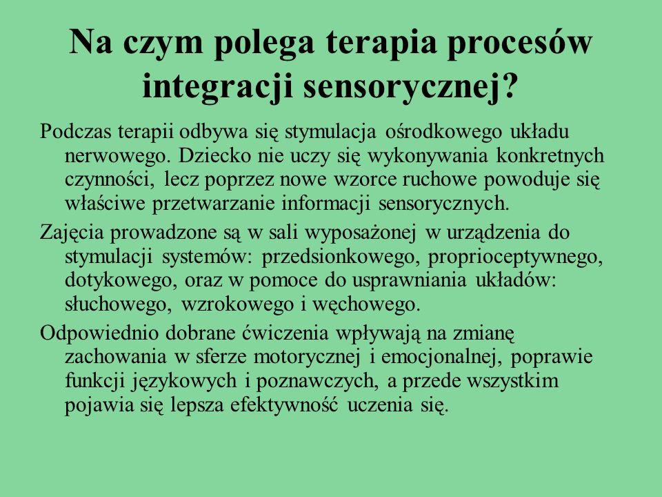 Na czym polega terapia procesów integracji sensorycznej