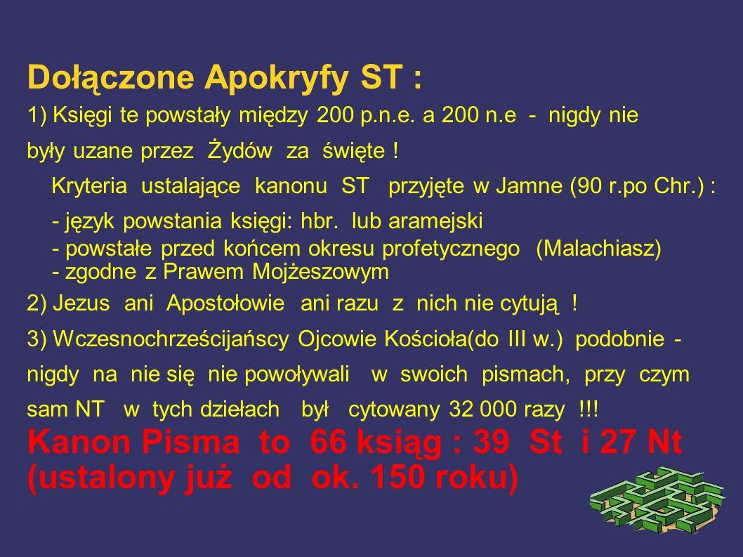 Dołączone Apokryfy ST :