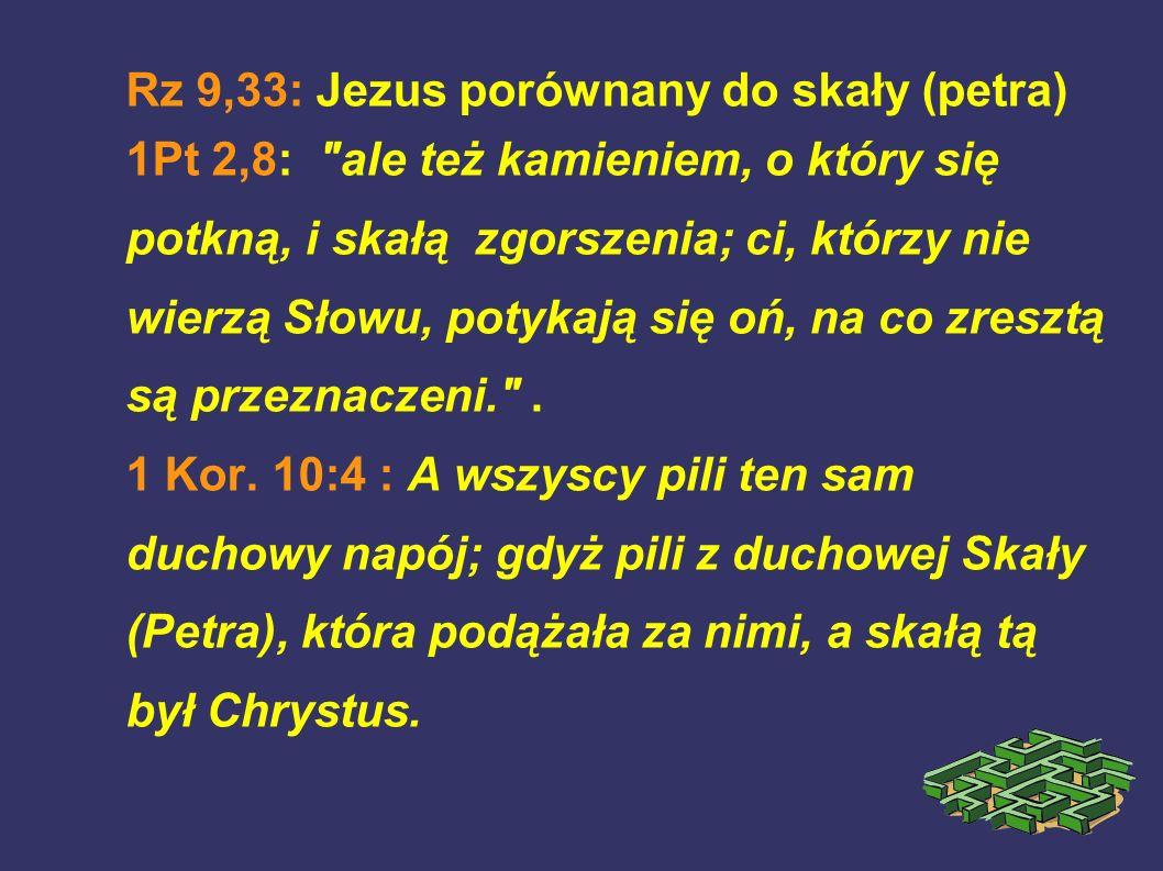 Rz 9,33: Jezus porównany do skały (petra)