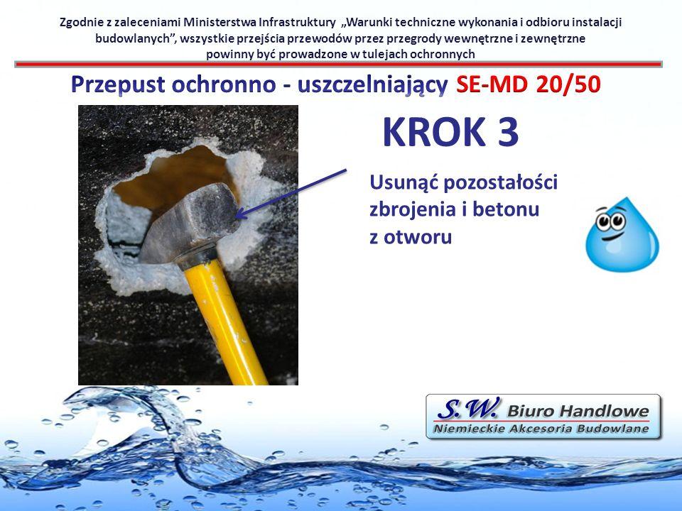 KROK 3 Przepust ochronno - uszczelniający SE-MD 20/50