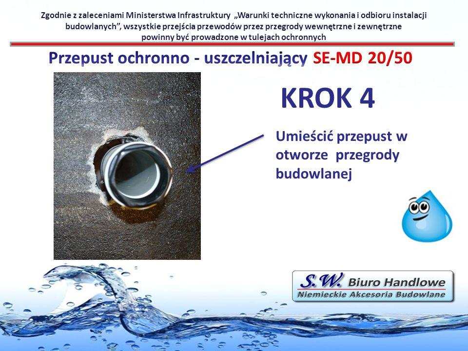 KROK 4 Przepust ochronno - uszczelniający SE-MD 20/50
