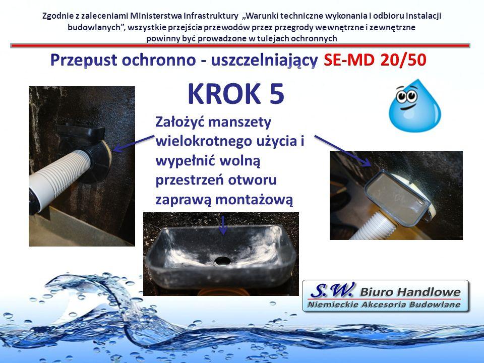 KROK 5 Przepust ochronno - uszczelniający SE-MD 20/50